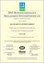 Management System Certificate ISO 9001:2008 STARCO Eastern Group