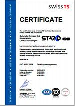 Certificate ISO 9001:2008 STARCO GS