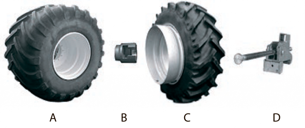 Применение сдвоенных колес (спарок) снижает удельное давление на почву