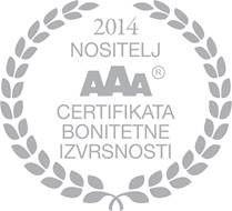 "CREDIT RATING CERTIFICATE OF EXCELLENCE ""AAA"""